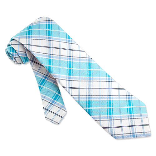 blue plaid tie. Twill Plaid Tie by Nautica