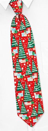 Gifts Under the Tree Tie by The American Necktie Co -  Red Microfiber