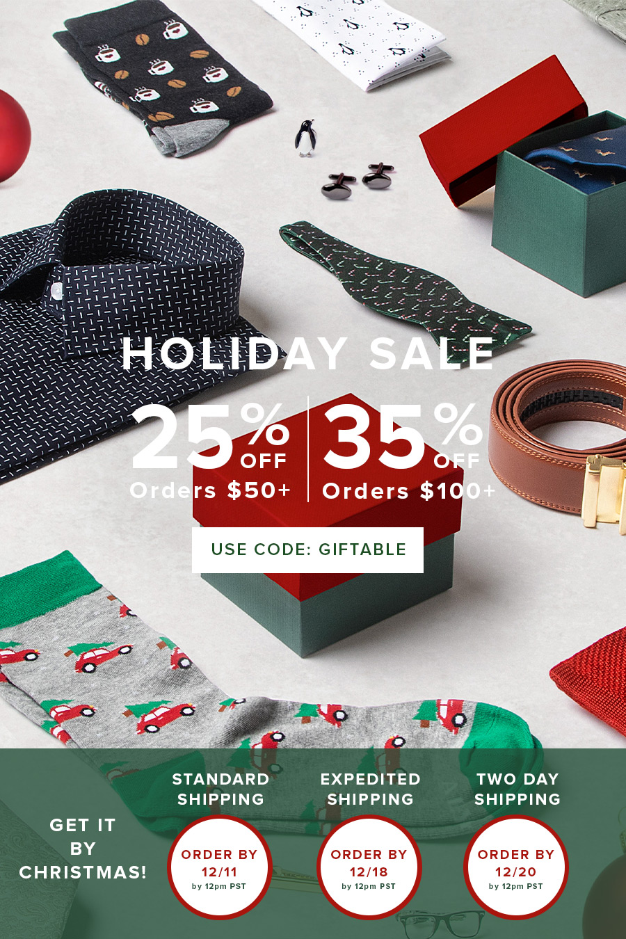 Take 25% Off Orders $50+, 35% Off Orders $100+ w/ code GIFTABLE